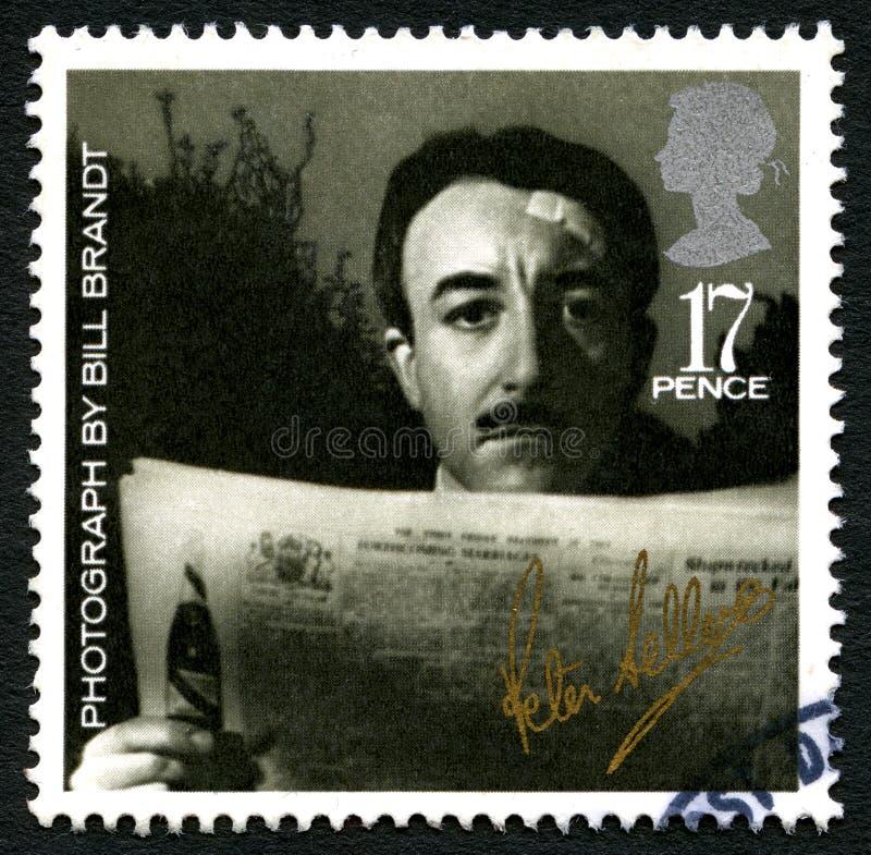 De Postzegel van Peter Sellers het UK stock fotografie