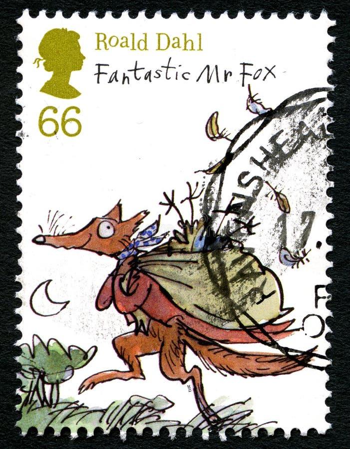 De Postzegel van Roald Dahl het UK stock illustratie