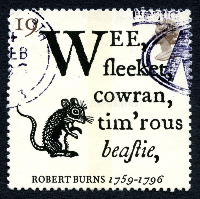 De Postzegel van Robert Burns Poem het UK royalty-vrije stock foto's