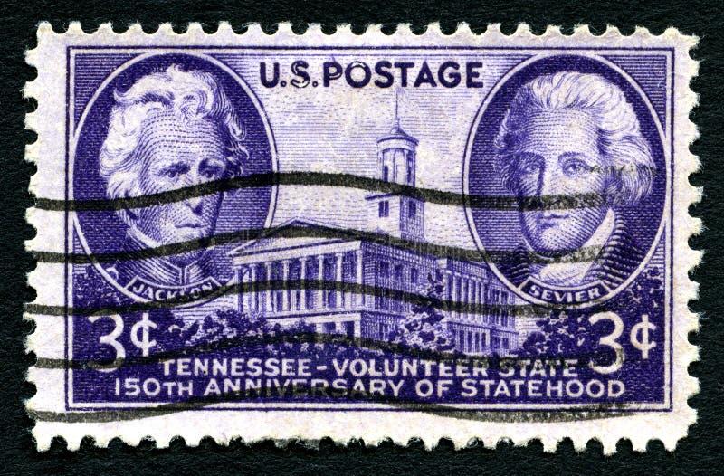 De Postzegel van Tennessee Statehood de V.S. royalty-vrije stock foto's