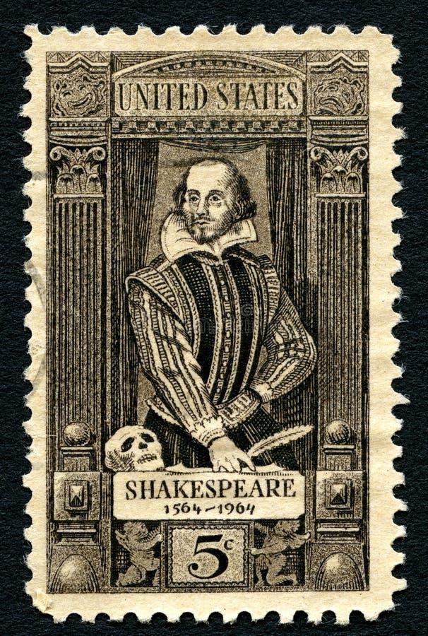De Postzegel van William Shakespeare de V.S. royalty-vrije stock foto's