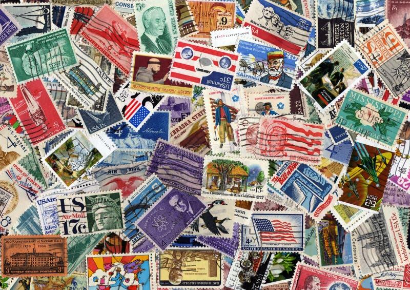 De postzegelinzameling van de V.S. royalty-vrije stock fotografie