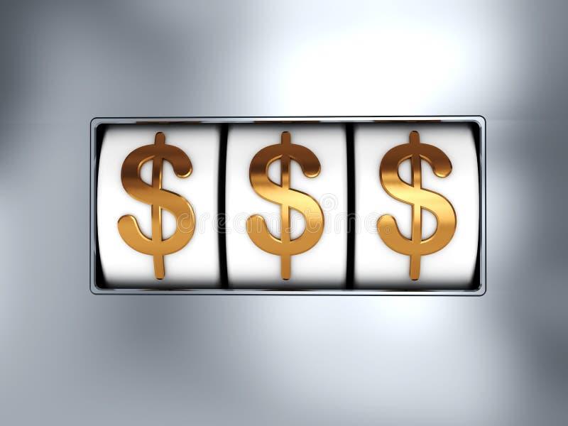 De pot van de dollar royalty-vrije illustratie