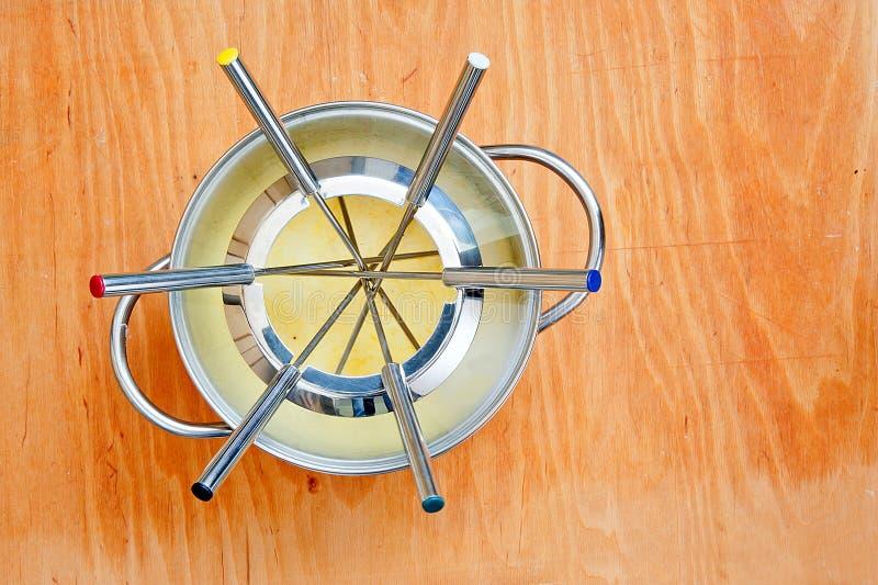 De pot van de fondue royalty-vrije stock foto