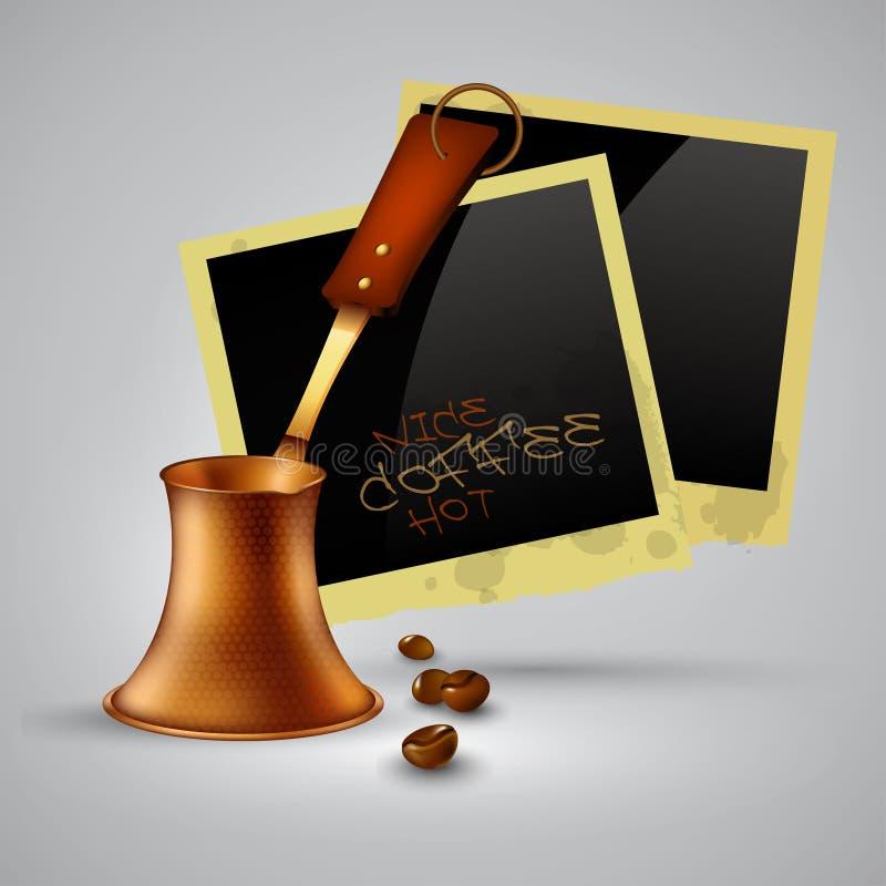De pot van de koffie stock illustratie