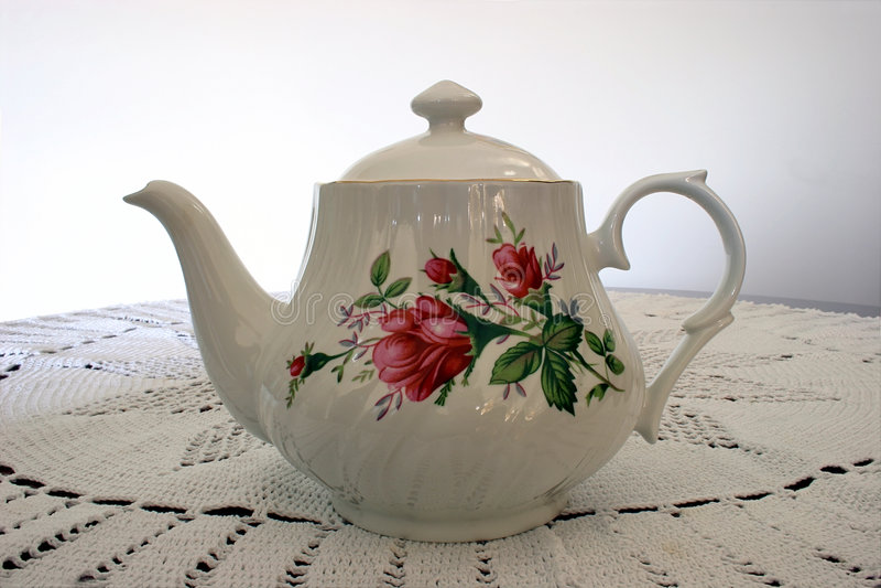 De Pot van de thee stock afbeelding