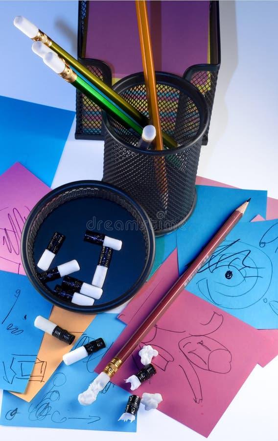 De potloden van de brainstorming royalty-vrije stock afbeelding