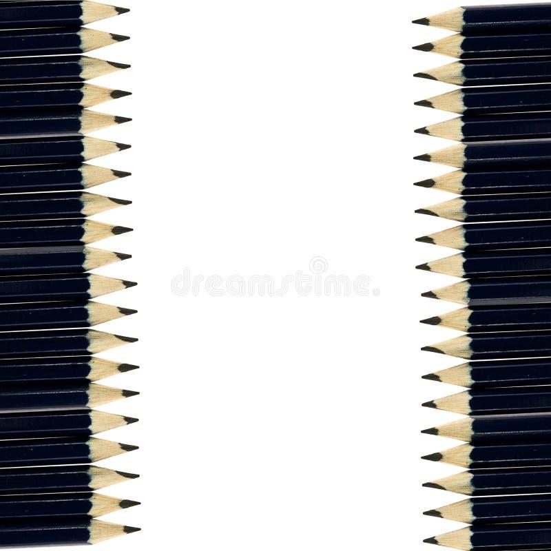 De potloden van de groep stock afbeeldingen