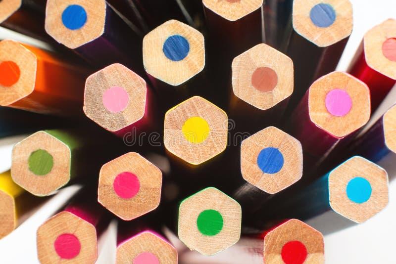 De potloden van de kinderen` s kleur voor tekening stock foto's