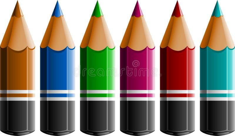 De Potloden van de kleur stock illustratie