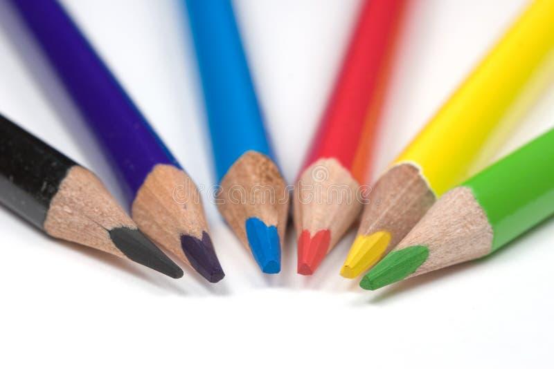 De potloden van de kleur royalty-vrije stock foto's