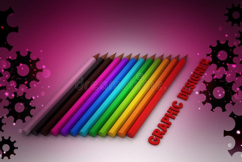 De potloden van de kleur royalty-vrije illustratie