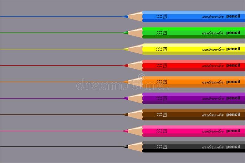 Download De Potloden Van De Tekening Stock Illustratie - Illustratie bestaande uit dingen, pennen: 287274