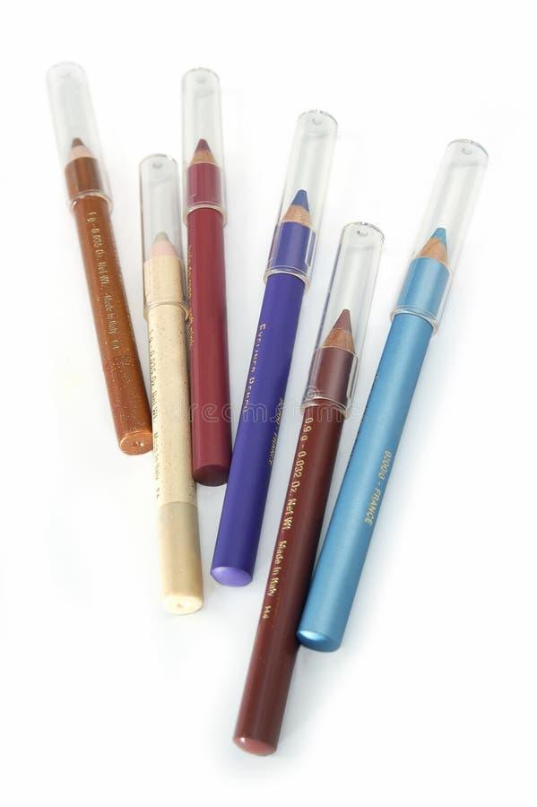 De potloden voor maken omhoog stock fotografie