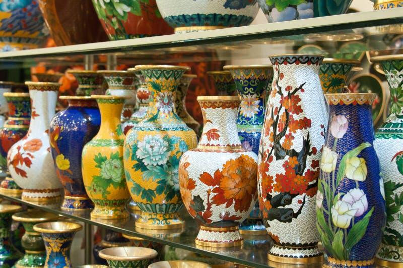 De potten van Cloisonné royalty-vrije stock foto's