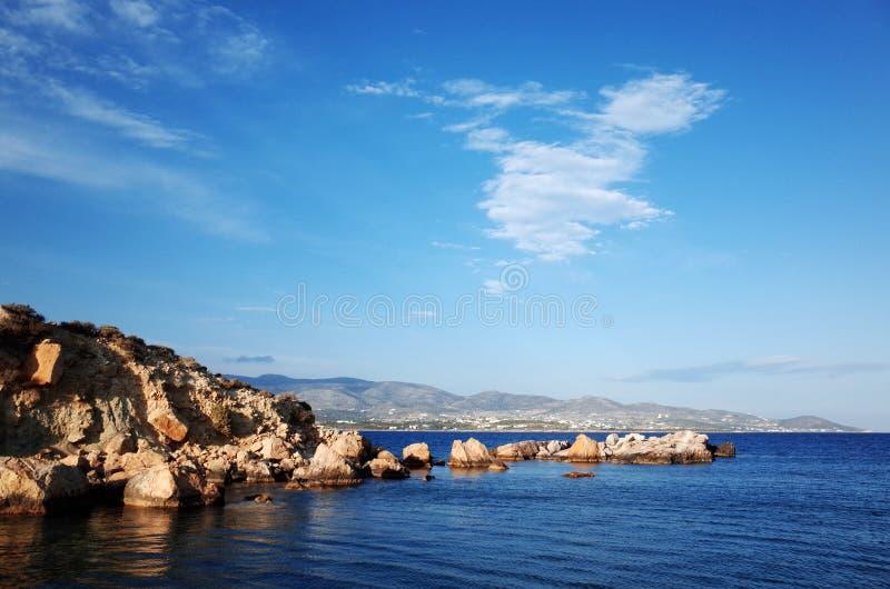 De Potten van de bloem - Paros, Griekenland stock fotografie