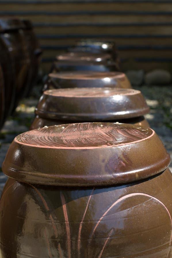 De potten van de klei. stock foto