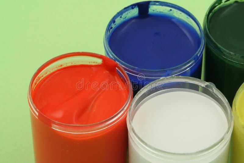 De potten van de verf stock fotografie