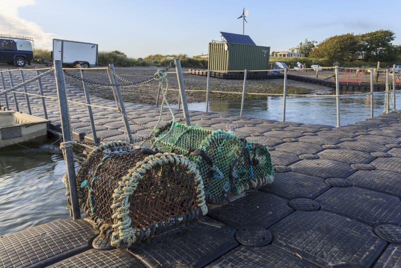 De potten van de zeekreeft in Brighton stock fotografie