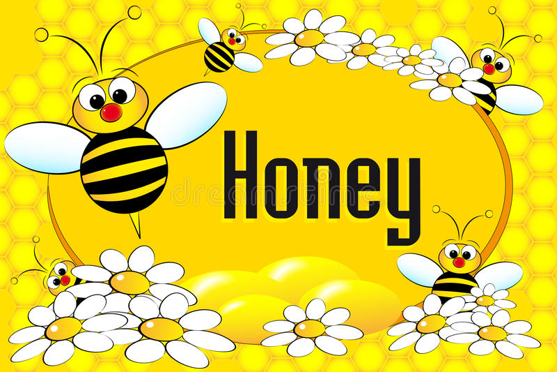 De pottenetiket of brochure van de honing vector illustratie