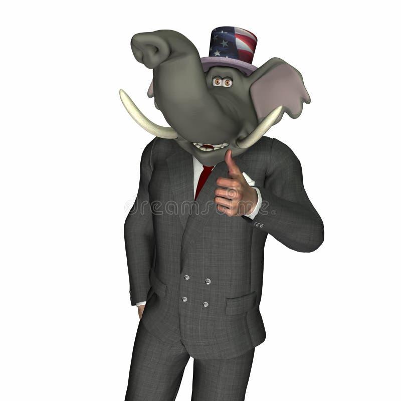 De pouces républicain vers le haut - illustration de vecteur
