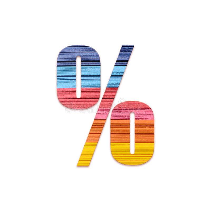 % de pour cent Papier de couleur d'arc-en-ciel images stock