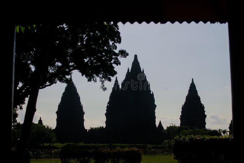De pracht van prambanan tempel stock afbeelding