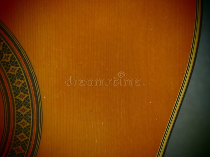 De prachtige kromme van Klassieke Gitaar Retro vlot voelt stock afbeeldingen