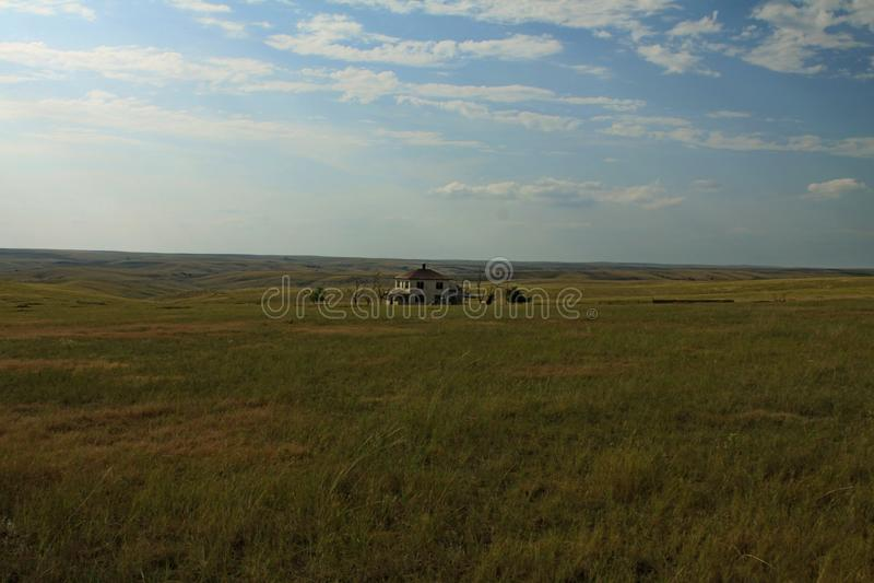 De prairielandschap van Wyoming royalty-vrije stock foto