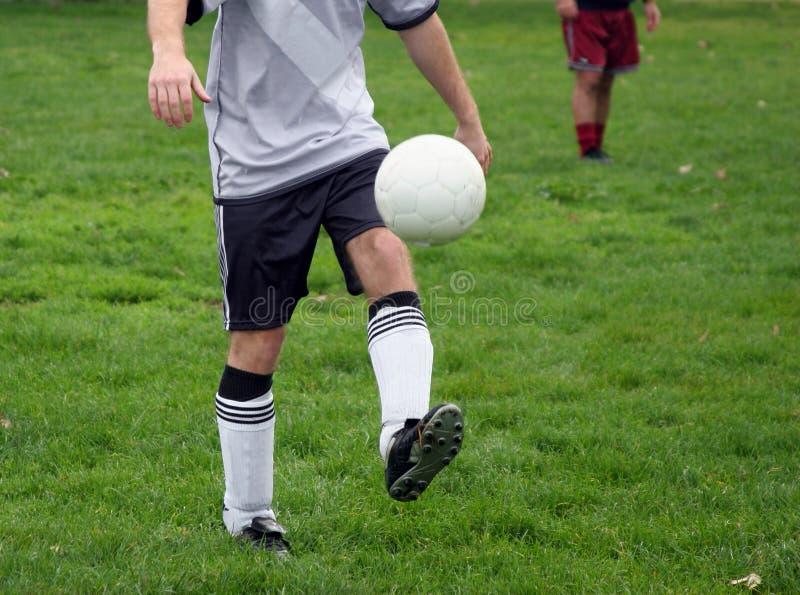 De praktijk van het voetbal royalty-vrije stock fotografie