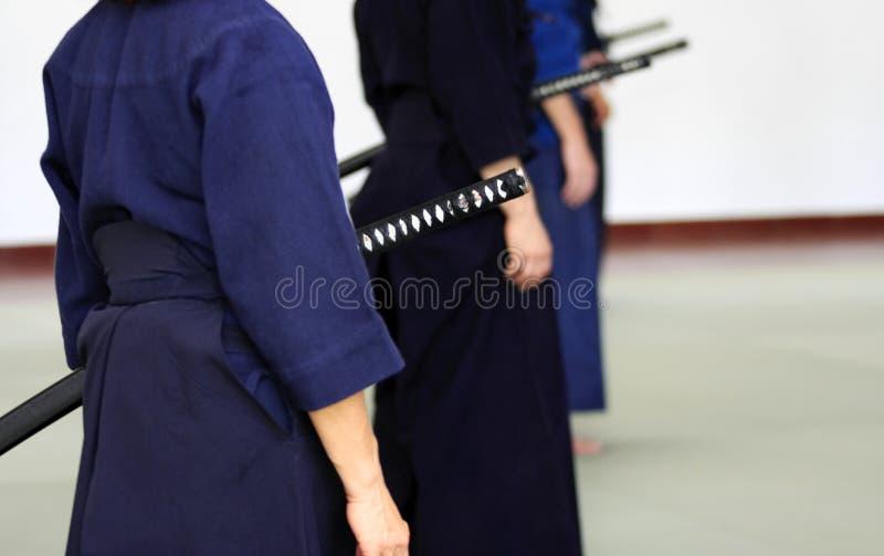 De praktijk van Iaido stock foto's