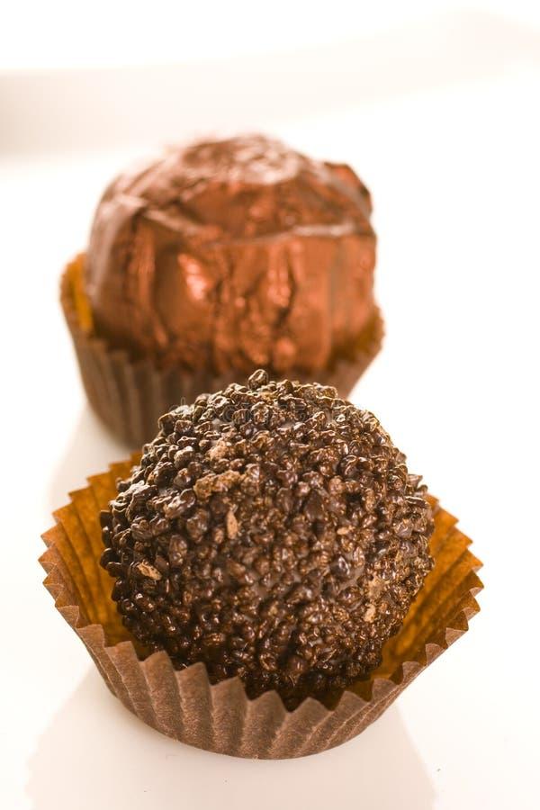 De praline van de chocolade stock fotografie