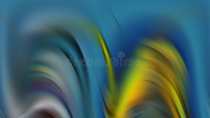 De prata azuis hipnóticos coloridos alisam o fundo abstrato das ondas, fundo abstrato foto de stock royalty free