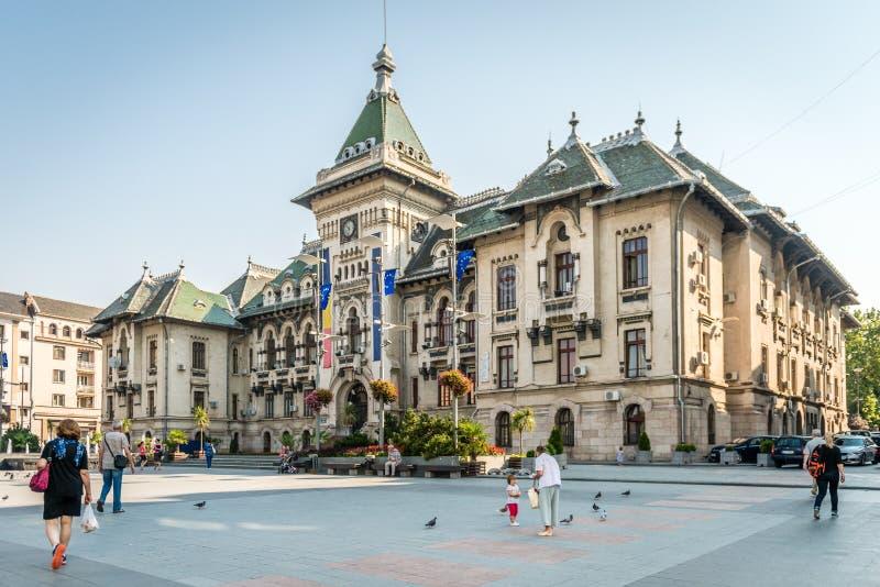 De Prefectuur van de Doljprovincie in Craiova, Roemenië stock afbeelding