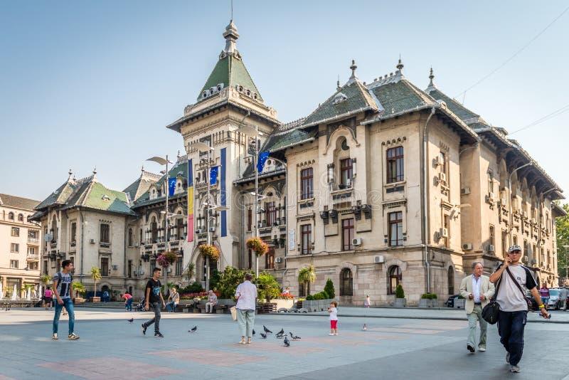 De Prefectuur van de Doljprovincie in Craiova, Roemenië royalty-vrije stock fotografie