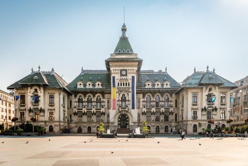 De Prefectuur van de Doljprovincie in Craiova, Roemenië stock foto's
