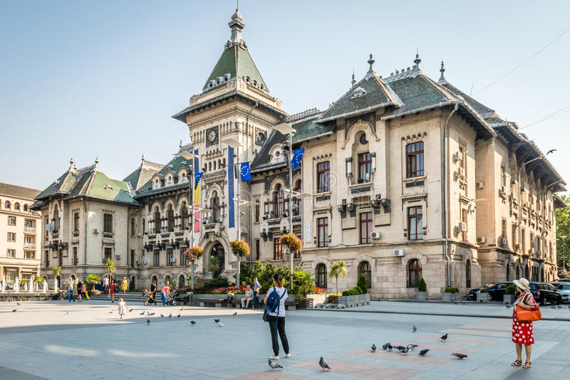 De Prefectuur van de Doljprovincie in Craiova, Roemenië royalty-vrije stock foto's