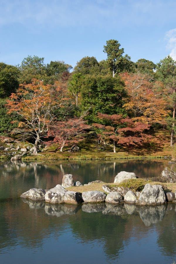 De Prefectuur van Japan, Kinki-Gebied, Kyoto, de Stad van Kyoto, Tenryu -tenryu-ji Tem stock afbeeldingen