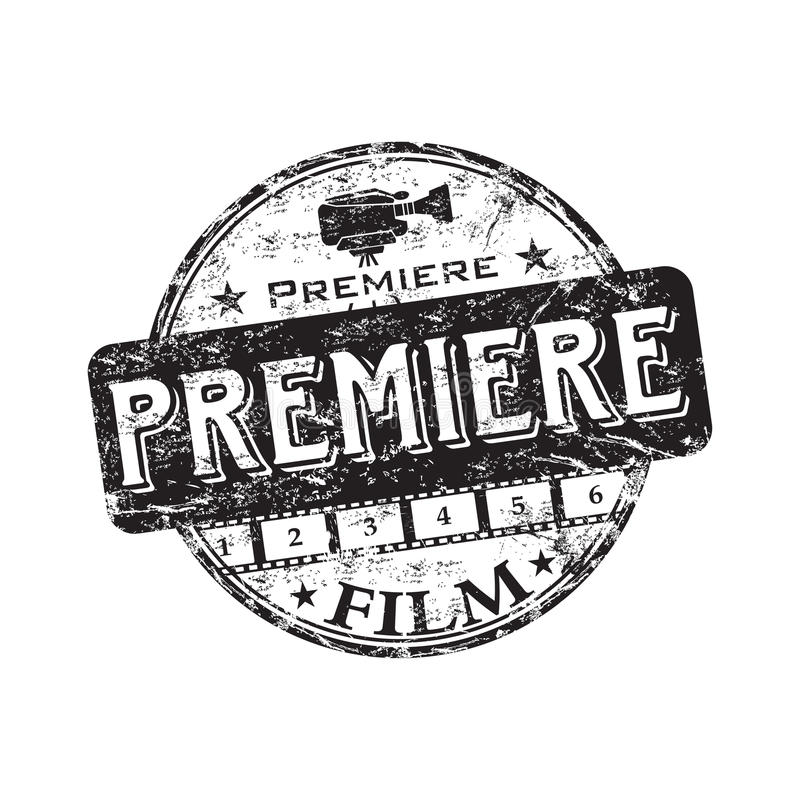 De première rubberzegel van de film vector illustratie