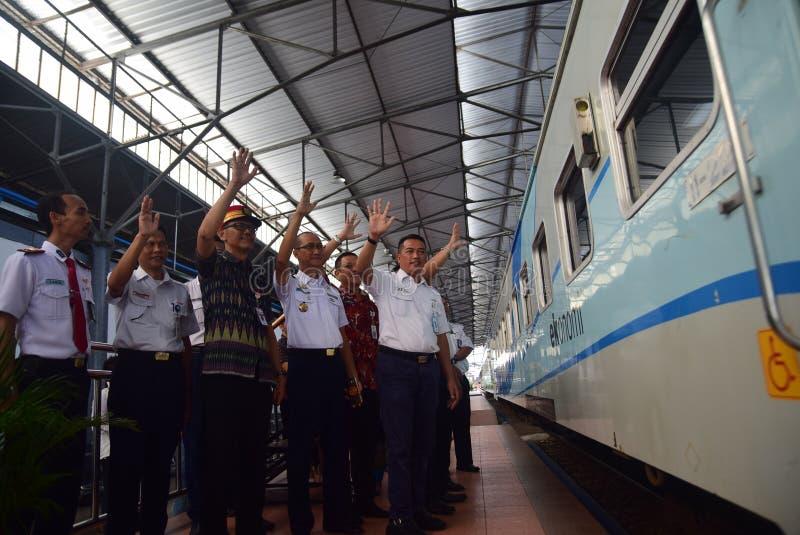 De première van Ambarawa-sneltreinreis stock fotografie