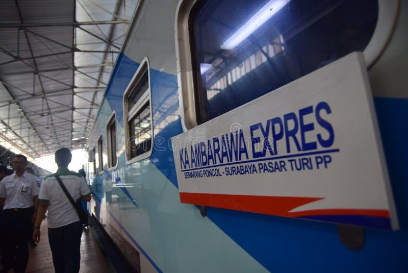 De première van Ambarawa-sneltreinreis stock afbeeldingen