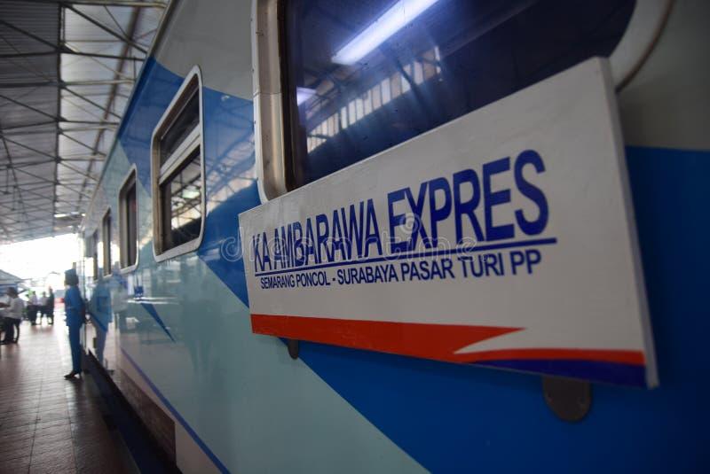 De première van Ambarawa-sneltreinreis royalty-vrije stock foto's