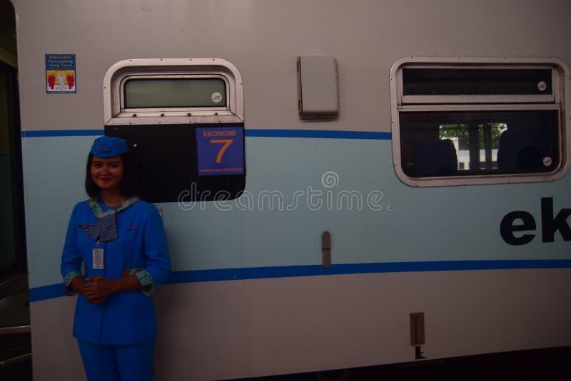 De première van Ambarawa-sneltreinreis royalty-vrije stock foto