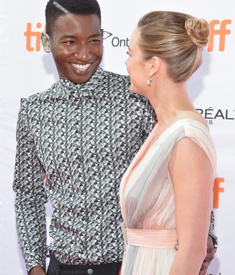 De première van Brie Larson en van Mamoudou Athie ` Unicorn Store ` bij Internationaal de Filmfestival van Toronto van 2017 royalty-vrije stock afbeeldingen