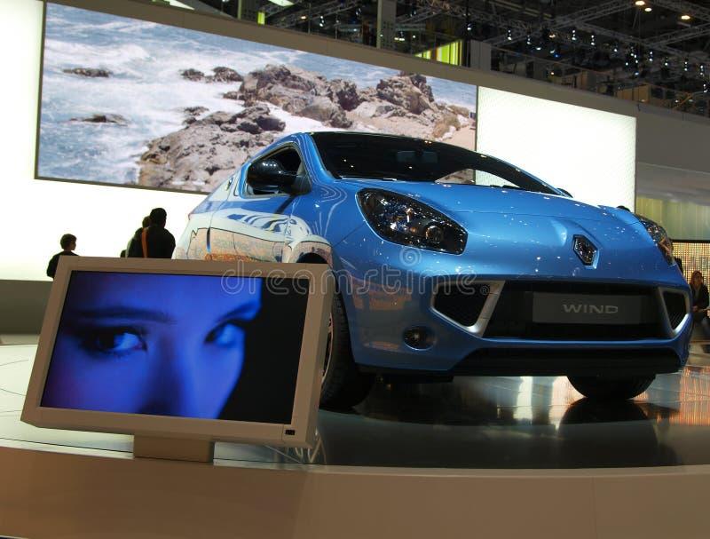 De Première van de Wereld van de Wind van Renault stock foto's
