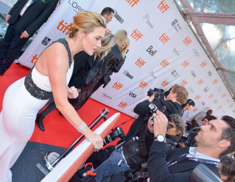 De première van Kate Winslet 2017 van ` een Berg tussen ons ` royalty-vrije stock foto's