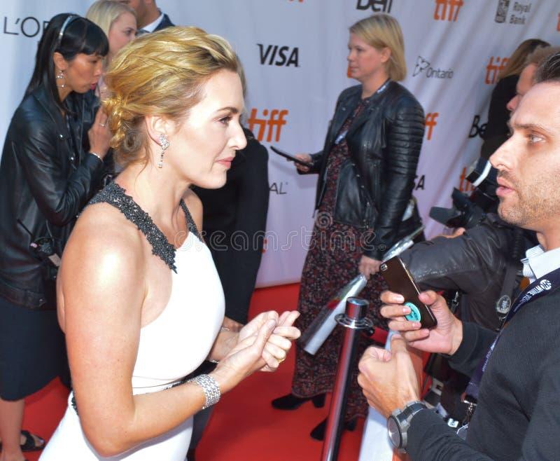 ` De première van Kate Winslet 2017 van ` een Berg tussen ons ` royalty-vrije stock foto's