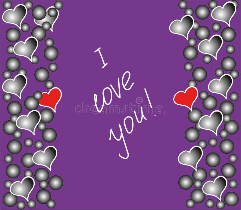 De prentbriefkaar ` I houdt van u! ` stock foto's