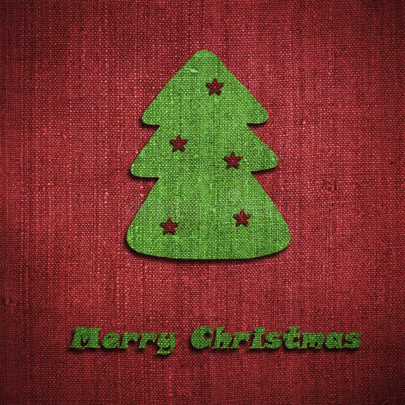 De prentbriefkaar van de kerstboom stock foto