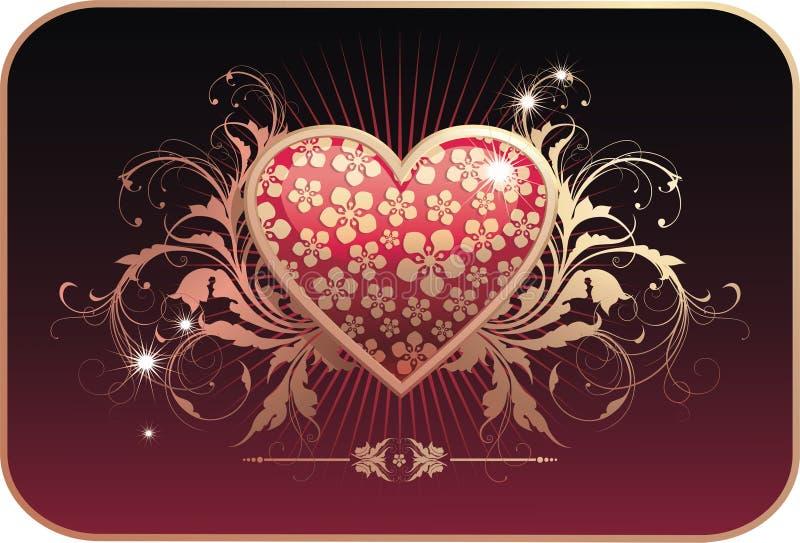 De prentbriefkaar van de valentijnskaart